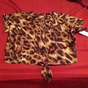 Xoxo leopard print blouse